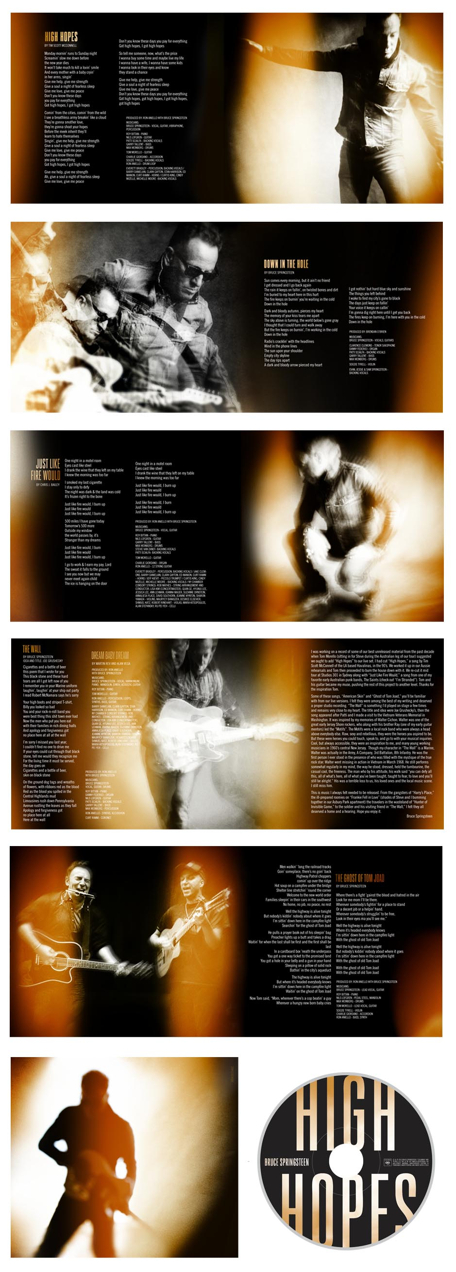High Hopes booklet and CD
