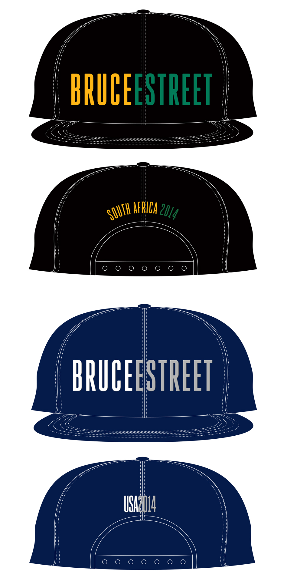 South Africa and US baseball caps