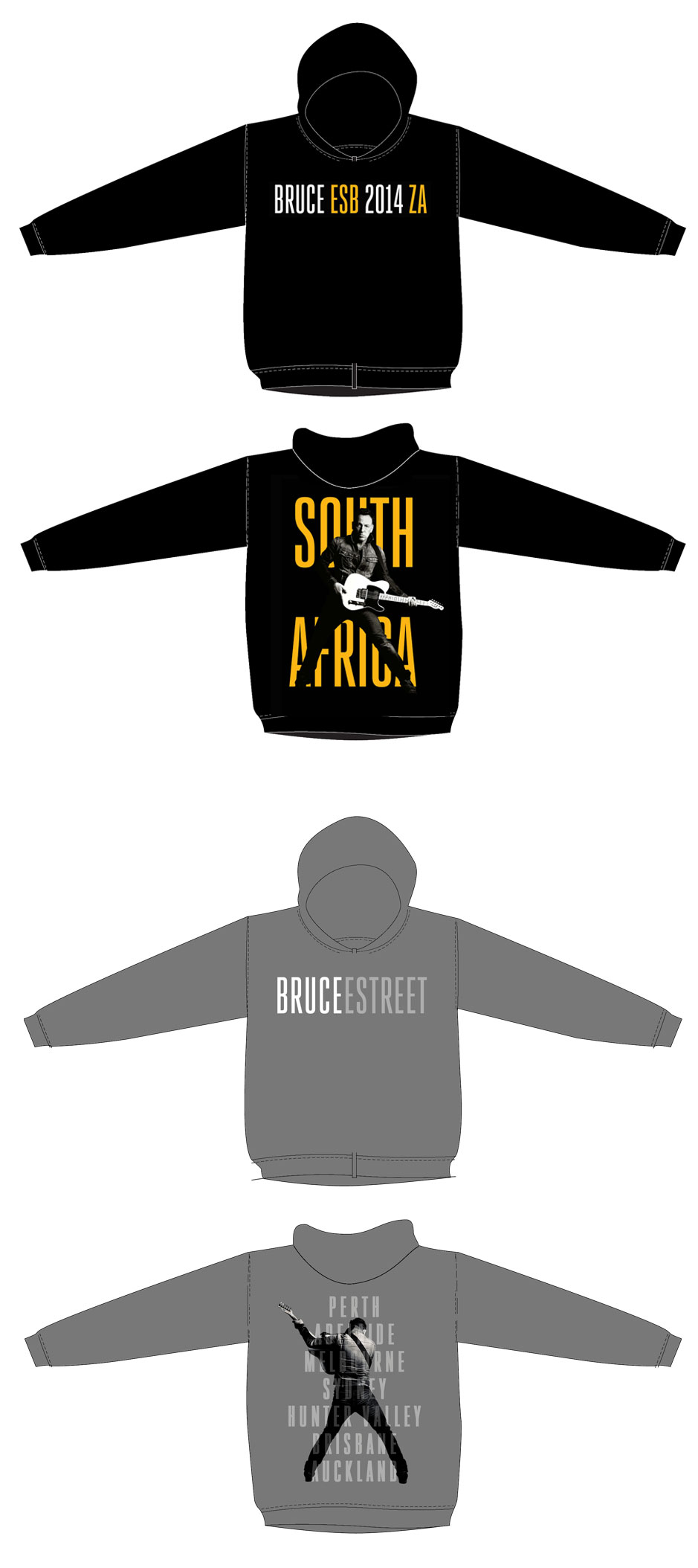 South Africa and Australia hoodies