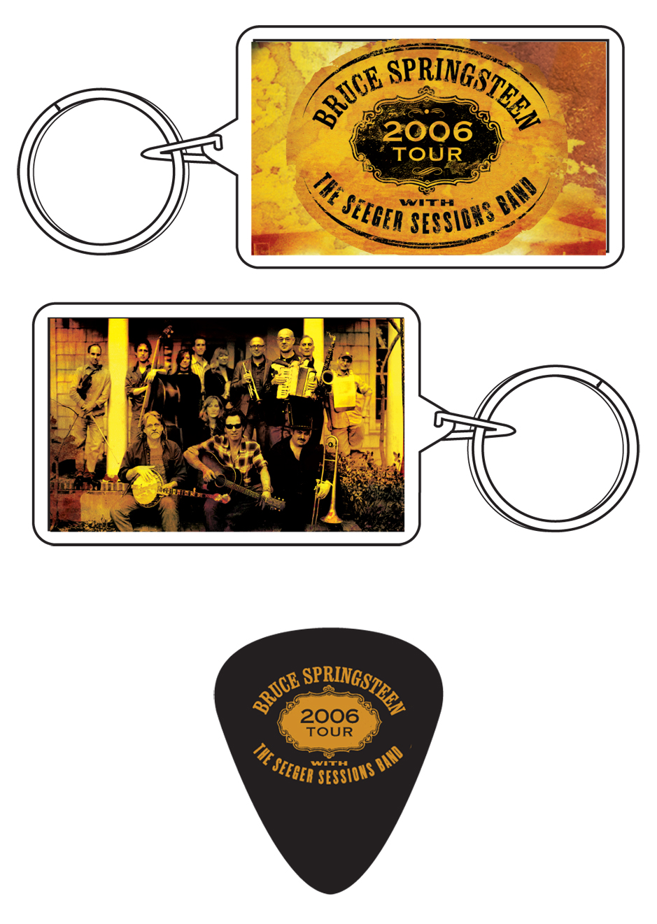 Keychain and guitar pick