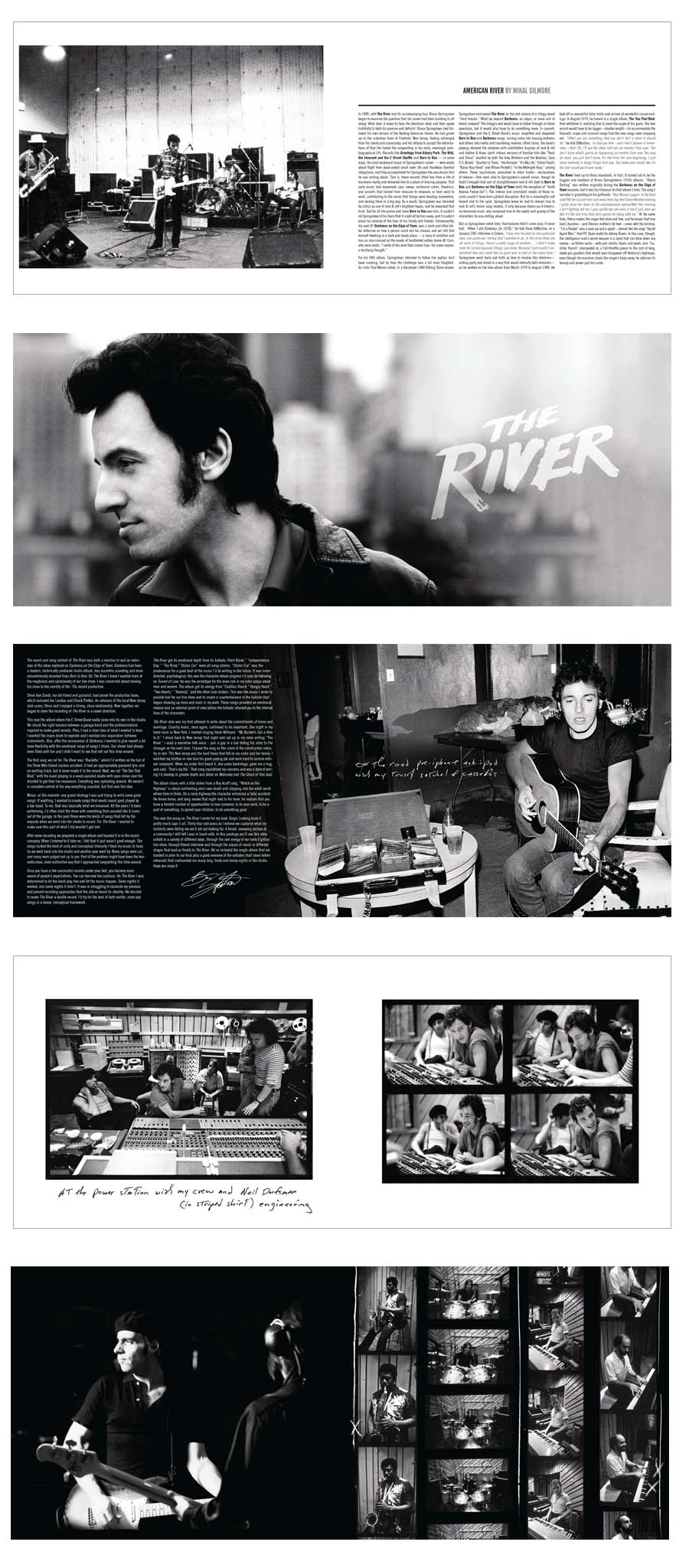 Sample spreads from book